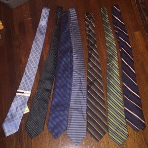 7 Set different brands ties